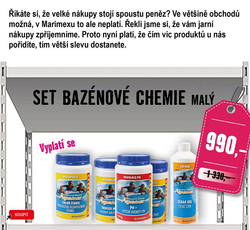Malý set bazénové chemie