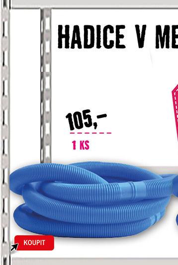 Bazénová hadice 32 mm, 1,25 m