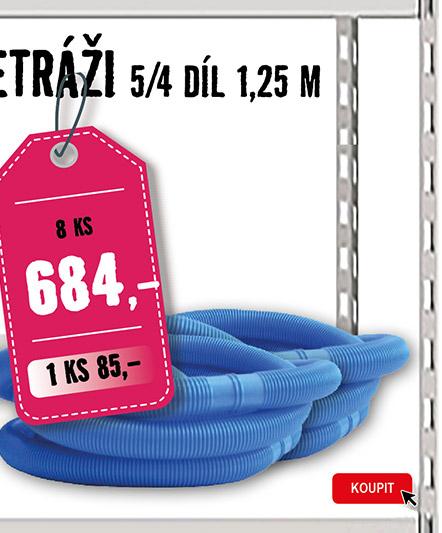 Bazénová hadice 32 mm, 1,25 m, 8 ks